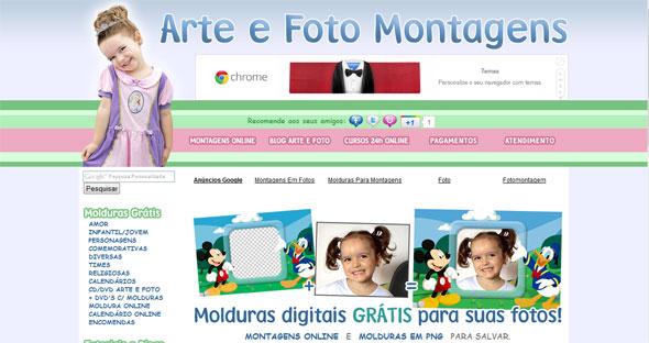 programa de arte e fotomontagem